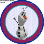 Topper Cupcakes Frozen Olaf