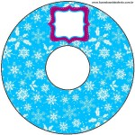CD DVD Flocos de Neve Azul Tiffany e Rosa: